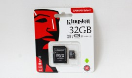 microSDHC 32GB class 10 s adaptérem Kingston